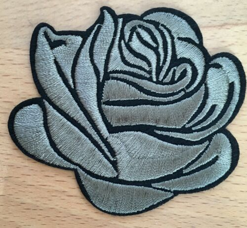 Noble rosas Patch//aufbügler perchas imagen Rose Patch flores aplicadas Flower