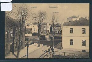 30274) Ak Nortorf Mairie/mairie Place Bahnpost Hambourg-vamdrup Train 22-afficher Le Titre D'origine