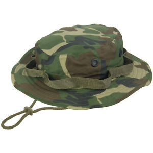 Image is loading Army-Tactical-Jungle-Boonie-Bush-Hat-Bushcraft-Hiking- 43e06da41df
