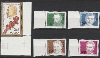 Niedrigerer Preis Mit V3946 Polen/ Persönlichkeiten Minr 2771 Briefmarken 2772/75 **