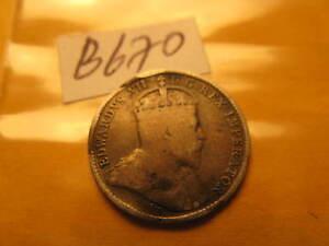 Canada-1908-5-Cent-Rare-Silver-Coin-ID-B670