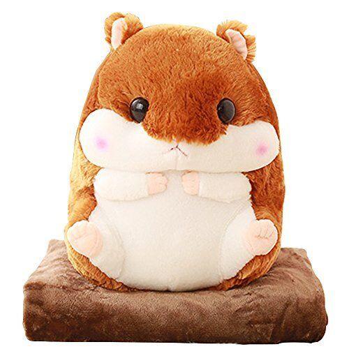 Alpacasso 3 In 1 Cute Hamster Plush Stuffed Animal Toys Pillow Blanket Set