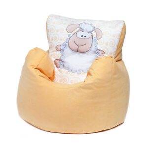 Details About Yellow Sheep Childrens Character Filled Beanbag Kids Bean Bag Chair Bedroom