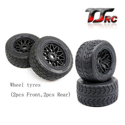 Front And Rear Wheel Tyres For 1 5 Hpi Rovan Km Baja 5b Rc Car Parts Ebay
