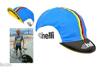 Nouveau Cinelli Ciao en coton bleu cycling cap-Route Urbain Rétro Vintage Fixie