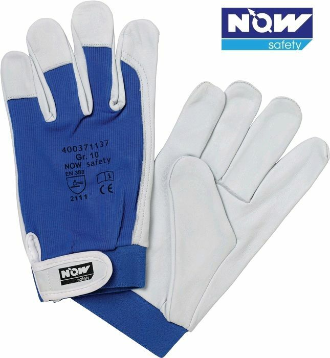 12 Paar NOW Safety Nappalederhandschuhe Größe 8 - 11  EN 388,Kat. II, Donau | Reichhaltiges Design  | Erste Klasse in seiner Klasse  | Vorzüglich
