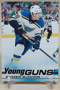 Mackenzie MacEachern Young Guns 2019-20 Upper Deck YG Rookie RC St. Louis Blues