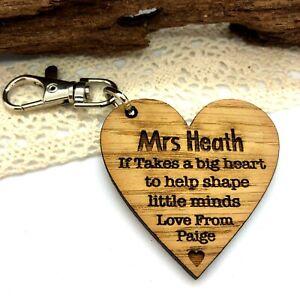 Nursery School Keyring Gifts Personalised Teacher Ruler Gift Teaching Assistant