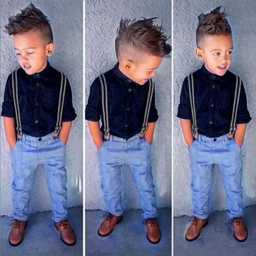 2pcs Toddler Kids Baby Boy T-Shirt Tops Denim Jeans Pants Outfits Clothes Suit