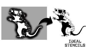 Banksy 3d glasses Rat Stencil home decor art craft template paint Ideal Stencils