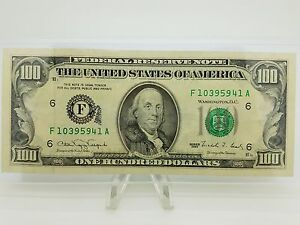 1990 One Hundred 100 Dollar Bill Federal Reserve Note Series