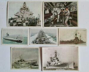 Vintage-1920s-WWI-Lloyd-Zigaretten-Cigarettes-Tobacco-Card-German-Naval-Ships