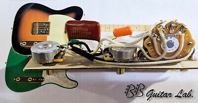 4 Way Switching Eldred Cocked Wah Orange Drops CTS Wiring Harness for Esquire
