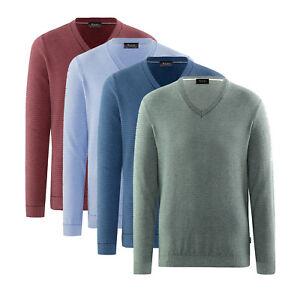 Maerz Herren Pullover Pulli V-Ausschnitt Baumwolle Sweater Sweatshirt NEU