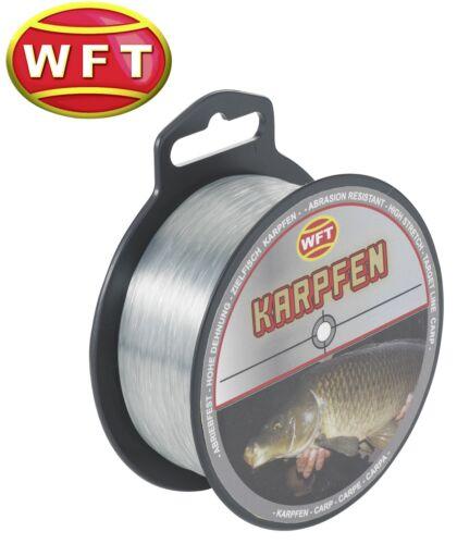 Karpfenschnur Angelschnur Monofil 0,01€//1m WFT Zielfisch Karpfen 400m grau