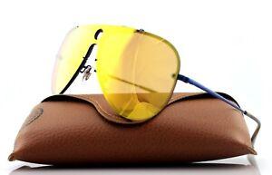 49e33dd8e4f NEW Authentic RAY-BAN BLAZE SHOOTER Blue Dark Orange Sunglasses RB ...