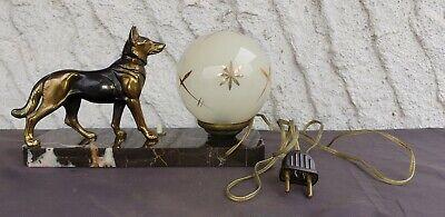 Ancienne Lampe De Chevet Art Deco Socle Marbre Et Berger Allemand En   eBay
