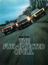 Buick Opel 1900 & Manta Fuel Injection 1975 USA Market Foldout Brochure Ascona