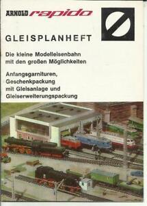 Katalog Arnold Rapido Gleisplanheft 1968 Modelleisenbahnen im Maßstab N - Recklinghausen, Deutschland - Katalog Arnold Rapido Gleisplanheft 1968 Modelleisenbahnen im Maßstab N - Recklinghausen, Deutschland