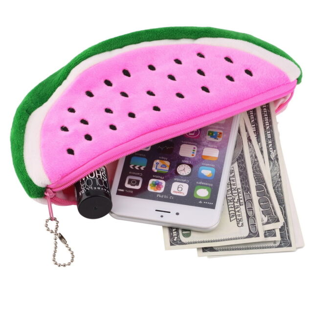 Watermelon Plush Stationery Pencil case Pen Purse Bag Lovely Cosmetic Bag OE