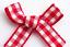 3cm Mini Gingham Bows 20 x Red Pre-Tied Ribbon Embellishment Wedding Crafts