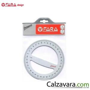 "Goniometro 360°-400° FARA Design serie /""GRAFIKA/""  12cm  MADE IN ITALY"