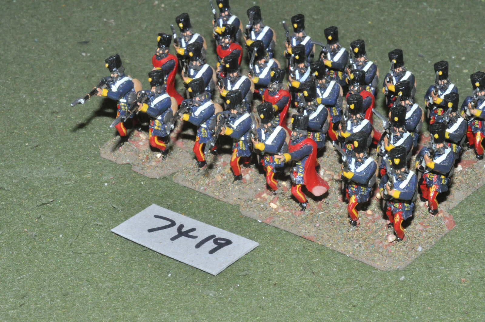 25mm 7YW   Austrian - seven years war grenzers 32 figures metal - inf (7419)