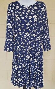 SundayMarket-Skull-Punk-Tunic-dress-all-season-tunic-stretchy-comfortable