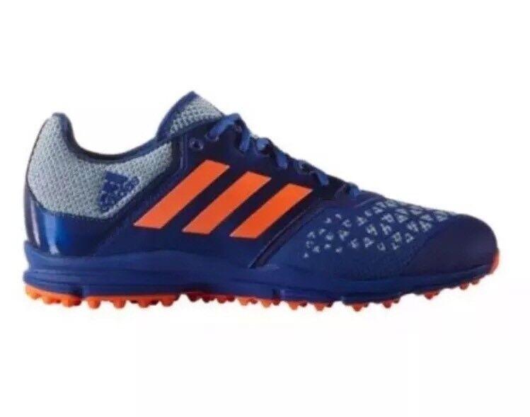 NEW Men's Size 10 ADIDAS Zone Dox Hockey Turf shoes bluee orange Cleats AQ6520