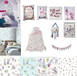 paris with love girls bedroom room glitter wallpaper matching