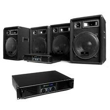 2400W DJ PA KOMPLETT SET ANLAGE 2x VERSTÄRKER 4x BOXEN LAUSTPRECHER PARTY SYSTEM