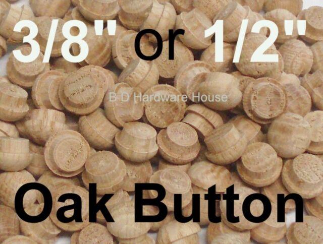 "50 100 Wood Furniture Buttons hardwood 5//8 top  1//2/"" inside  25"