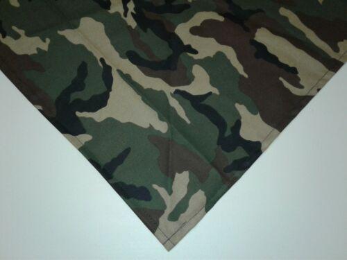Dog Bandana//Scarf Cotton Tie On Green Camouflage Custom Made by Linda Large