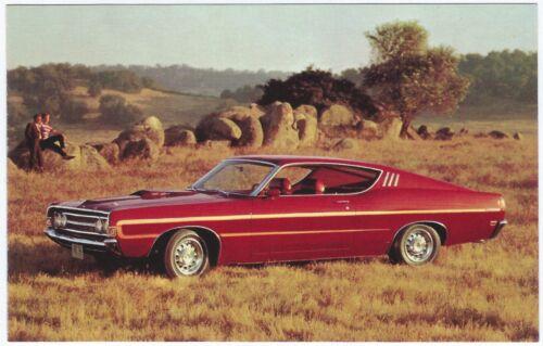 ^ 1969 Ford TORINO GT Sportsroof Original Dealer Promotional Postcard UNUSED VG