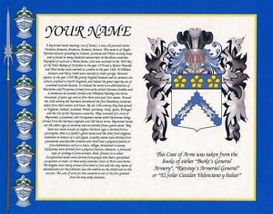 044689a45387c HERITAGE COAT OF ARMS WITH SURNAME HISTORY PRINT 10
