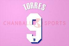 Torres #9 2011-2012 Chelsea UEFA Chaimpons League Homekit Nameset Printing