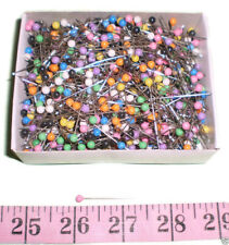 "1000 1 1//2/""  Assorted Color Plastic Pearl Head Dress Maker corsage Pins"