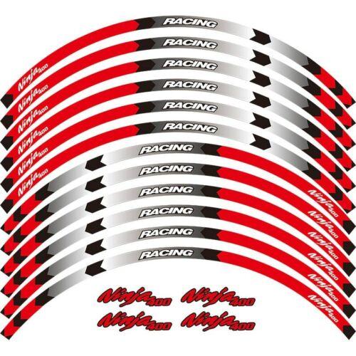 For Kawasaki ninja 400 Cool wheel protector motorcycle wheel sticker  #Lue