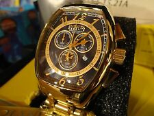 Invicta 17282 Reserve Blue Tonneau Specialty Chrono Gold S/S Bracelet Watch NEW!