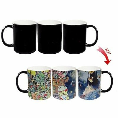 █ Pokeman Heat Sensitive Color Changing Magic Coffee Cup Mug BS043