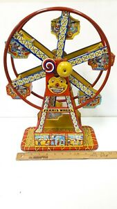 1930-039-s-Ferris-Wheel-by-Chein-w-Box-Fully-Operative-Excellent-Condition-US