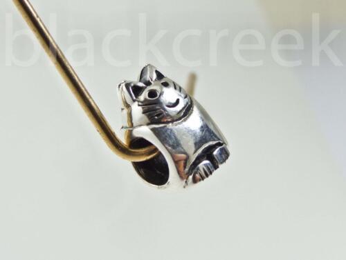 Argent Sterling 925 ~ Chaton ~ Chat ~ Antique ~ Animal Bead ~ de style européen bracelet