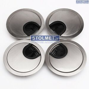 80mm Metal Round Desk Cable Tidy Outlet Grommet Insert