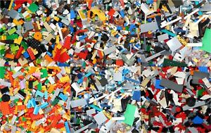 NEW-2-POUNDS-OF-LEGOS-Bulk-lot-Bricks-Parts-Accessories-Bricks-1-Mini-figure