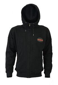 Motorcycle-Motorbike-Hoodie-Casual-Hoody-Protection-Jacket-Black-Zip-Up-Armours