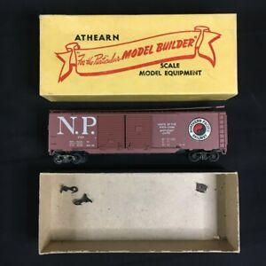 Vtg-Athearn-HO-Scale-NORTHERN-PACIFIC-RAILWAY-Double-Doors-Train-Original-Box
