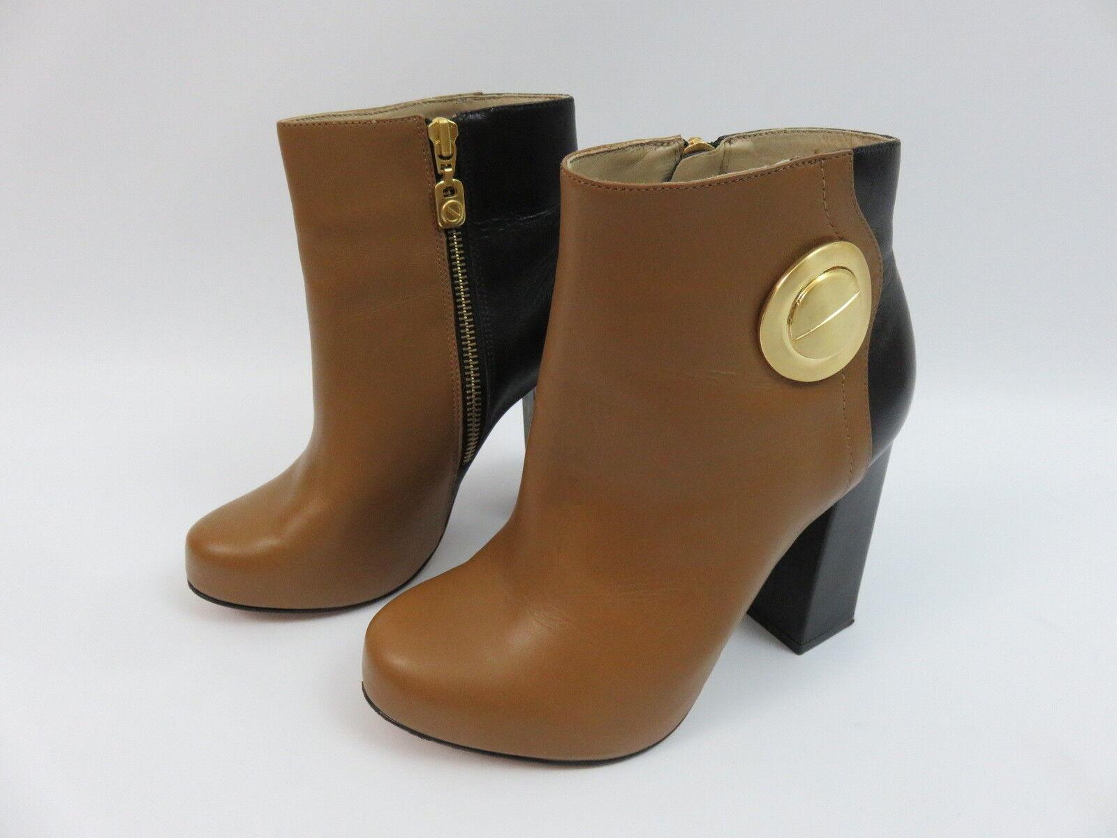 Kat Maconie Stiefelette Ankle Boots Schwarz-Braun Blockabsatz Gr.37 Leder TOP