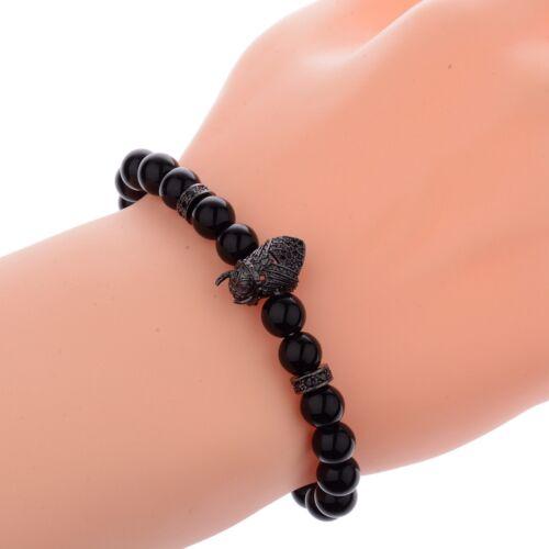 Homme Viking Bracelet Guerrier Bead /& Noir Lava Perles tressé gladiateur Bracelets
