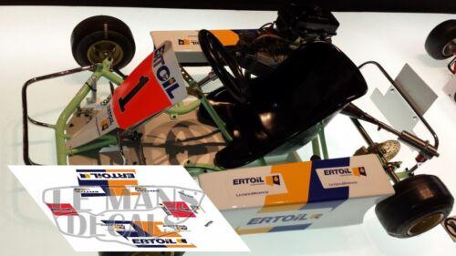 Calcas Kart Fernando Alonso 1:32 1:24 1:43 1:18 64 87 slot decals