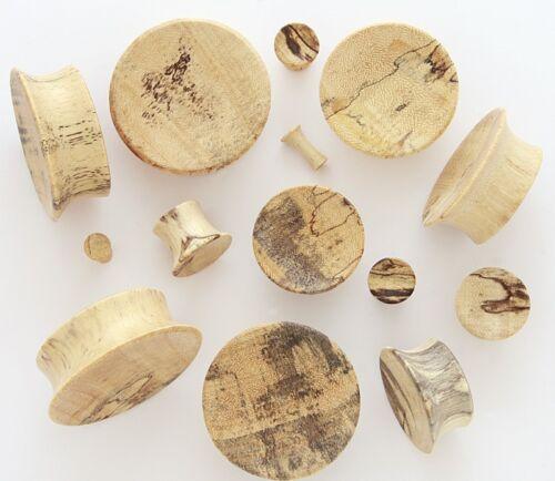 "Pair 9//16/"" 14mm Tamarind Natural Organic Wood Concave Single Flare Ear Plugs 198"